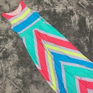 Bass colorful maxi dress size L